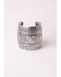 Missguided - Metallic Antique Silver Cuff - Lyst