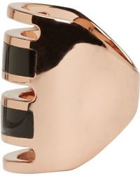 Pamela Love - Black Rose Gold And Onyx Inlay Path Ring - Lyst