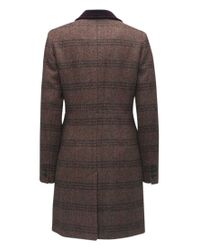 Barbour - Purple Stornaway Tweed Coat - Lyst