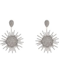 Carole Shashona | Metallic Star Sparkler Drop Earrings-Colorless | Lyst