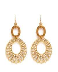 Lulu Frost - Metallic Oval Lumiere Drop Earrings - Lyst