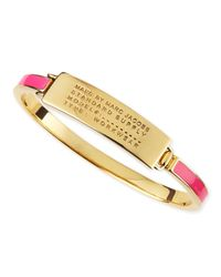 Marc By Marc Jacobs | Pink Enamel Standard Supply Bangle | Lyst