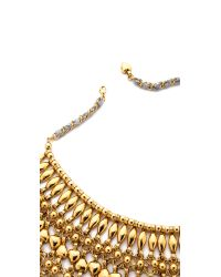 Aurelie Bidermann - Metallic Heart Beaded Bib Necklace - Lyst