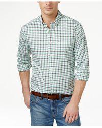 Tommy Hilfiger - Blue Big And Tall Men's Baldwin Tattersall Plaid Long-sleeve Shirt for Men - Lyst