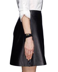 Givenchy - Black Double Wrap Shark Tooth Pony Hair Bracelet - Lyst