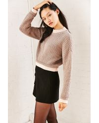 Silence + Noise - Brown Connor Wave Stitch Sweater - Lyst