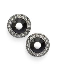 Givenchy | Halo Stud Earrings - Hematite/ Black | Lyst