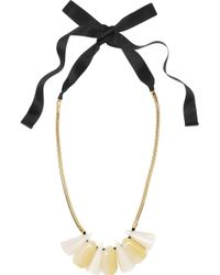 Marni | Metallic Three Stone Pendant Necklace | Lyst
