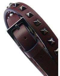 Valentino - Purple Leather Wraparound Bracelet for Men - Lyst