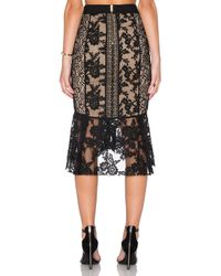 Three Floor - Black Lacely Skirt - Lyst