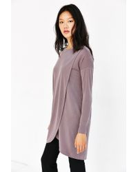 Silence + Noise - Brown Tulip Hem Tunic Dress - Lyst