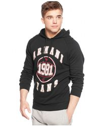 Armani Jeans | Black Logo Graphic Sweatshirt for Men | Lyst