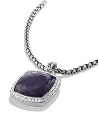 David Yurman - Albion Pendant With Black Orchid With Diamonds - Lyst