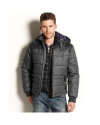 INC International Concepts - Gray Vincent Puffer Jacket for Men - Lyst