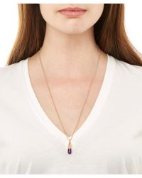 True Rocks | Pink Small Rose Gold Plated Pill Necklace | Lyst