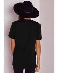 Missguided - Black Rock T Shirt - Lyst