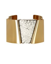 Isabel Marant - White Cracked-effect Cuff - Lyst