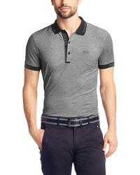 BOSS Green - Black 'paule' | Slim Fit, Cotton Polo Shirt for Men - Lyst