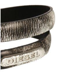 DIESEL | Black Atexo Neon Wrap Bracelet for Men | Lyst
