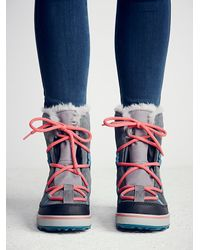Free People | Blue Sorel Womens Glacy Explorer Weather Boot | Lyst