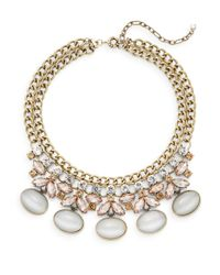 Saks Fifth Avenue | Metallic Faceted-accent Bib Necklace | Lyst