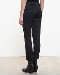 Ann Demeulemeester - Black Textured Trousers - Lyst