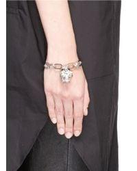 Alexander McQueen | Metallic Punk Rose Skull Chain Bracelet | Lyst