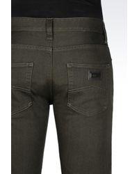 Armani | Green Regular Fit Coloured Wash Jeans for Men | Lyst