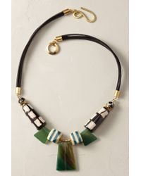 Anthropologie | Green Alexandria Bib Necklace | Lyst