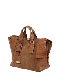 Burberry | Brown Callaghan Suede Embossed Leather Bag | Lyst