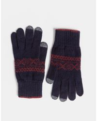 Glen Lossie | Blue Lambswool Scarf & Gloves Set for Men | Lyst