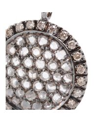 Roberto Marroni | Metallic 18kt Oxidized White Gold Necklace With Light Brown And White Diamonds | Lyst