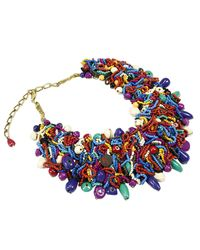 Manila Grace | Multicolor Stones Necklace Bijoux | Lyst