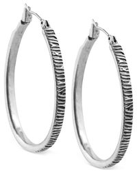 Lucky Brand | Metallic Etched Hoop Earrings | Lyst