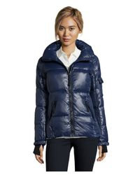 S13/nyc | Blue Navy Quilted 'rider' Short Zip Down Jacket | Lyst