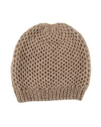 Black.co.uk - Nutmeg Brown Cashmere Beanie Hat - Lyst