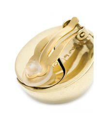 Vaubel - Metallic Swirl Center Round Clip Earrings - Lyst