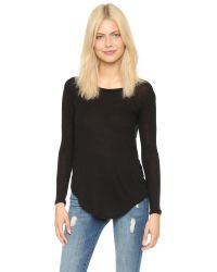 Chaser - Black Drape Back Tee - White - Lyst