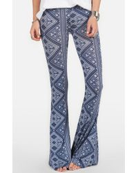 Volcom - Blue 'lottie Dah' Print Flare Pants - Lyst