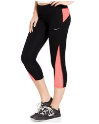 Nike | Orange Racer Cropped Dri-fit Leggings | Lyst