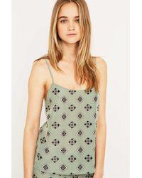 Urban Outfitters | Green Print Pyjama Top | Lyst