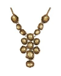 Lucky Brand - Metallic Goldtone Rock Crystal Collar Necklace - Lyst