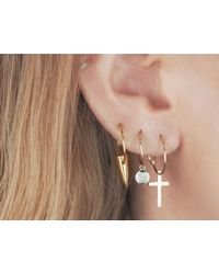 i+i | Metallic Tusk Gold Hoop Earrings | Lyst