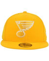 KTZ | Metallic St. Louis Blues C-dub 59fifty Cap for Men | Lyst
