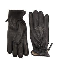 Want Les Essentiels De La Vie | Black Chopin Leather Zip Gloves for Men | Lyst