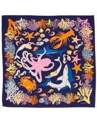 Karen Mabon - Black Swimming Sharks Silk Scarf - Lyst