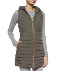 Peuterey | Green Cartier Miter Ribbed Long Vest | Lyst