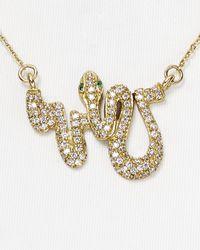 "Melinda Maria - Metallic Serpent Baby Necklace, 18"" - Lyst"