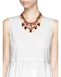 Kenneth Jay Lane - Pink Amazon Crystal Strass Necklace - Lyst