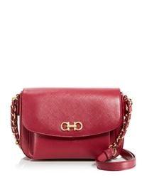 Ferragamo - Red Sandrine Shoulder Bag - Lyst